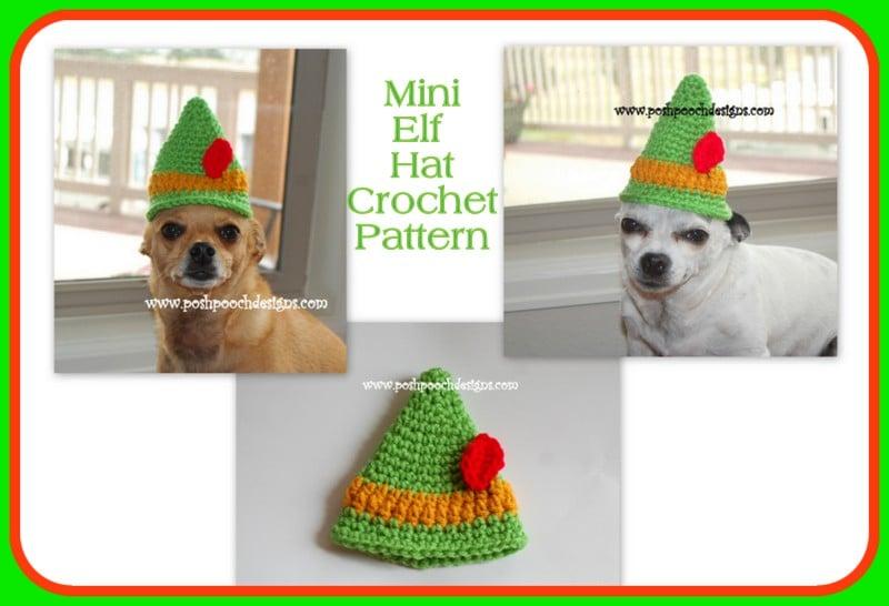 Mini Elf Hat by Sara Sach by Posh Pooch Designs