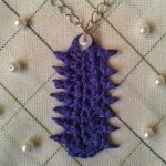 Pretty Purple Picot Pendant ~ Crochet is the Way
