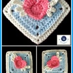 Angel Heart Granny Square by Maz Kwok's Designs