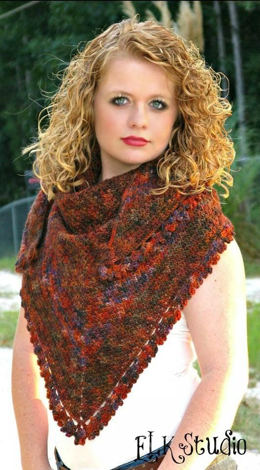 Pumpkin Spice - Shawl by Kathy Lashley of ELK Studio