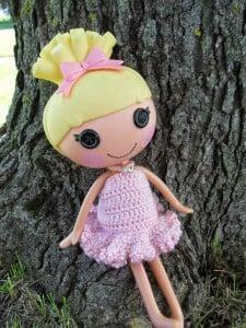 Summer Ruffle LaLa Loopsy Dress by Manda Proell of MandaLynn's Crochet Treasures