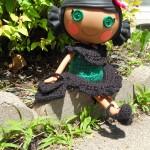 LaLa Loopsy Shawl/Capelet, Purse & Shoes by Manda Proell of MandaLynn's Crochet Treasures