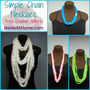 Simple Chain Stitch Necklace by Jessie At Home