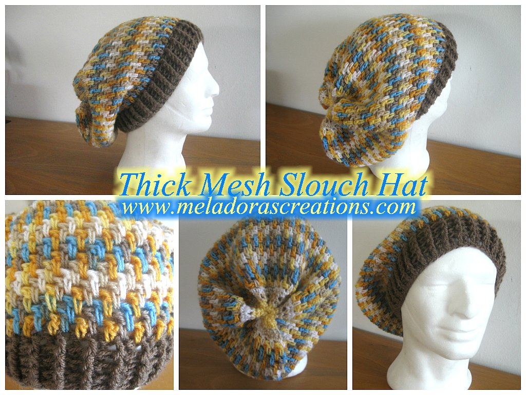 Thick Mesh Hat by Meladora's Creations