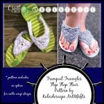 Tranquil Triangle Flip Flop Flair by Kaleidoscope Arts & Gifts for Cre8tion Crochet