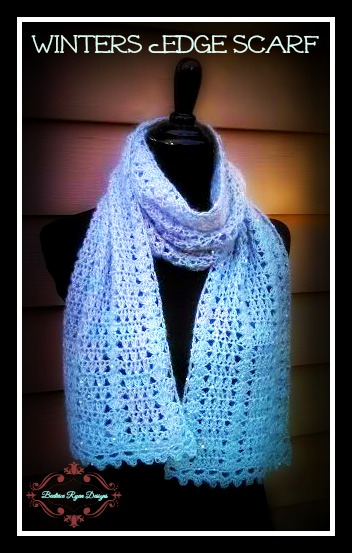 Winter's Edge Scarf by Beatrice Ryan Designs