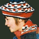 Crochet Beret and Scarf Pattern #2172 ~ Free Vintage Crochet