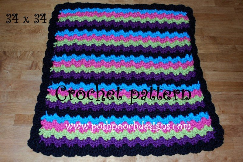 Chunky Blanket by Sara Sach of Posh Pooch Designs