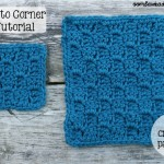 Corner-to-Corner Shell Stitch - Coaster, Square or Afghan ~ Oombawka Design