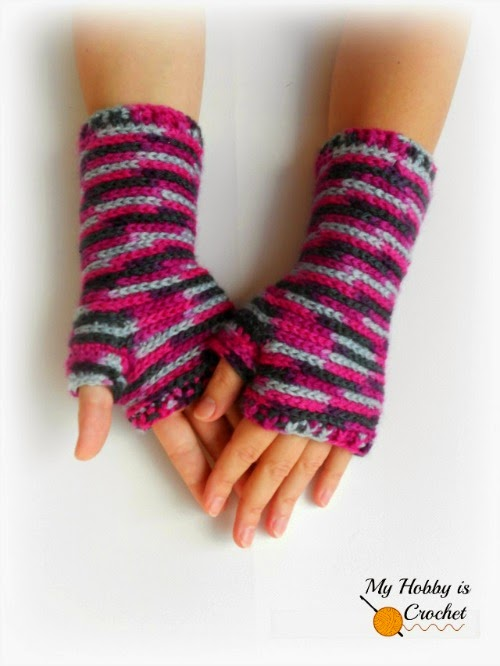Bella Bricks Crochet Wristers by My Hobby is Crochet