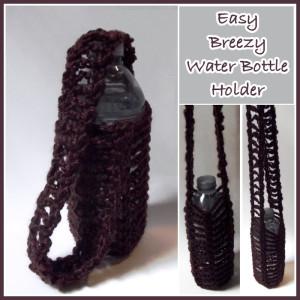Easy Breezy Water Bottle Holder by Rhelena of CrochetN'Crafts