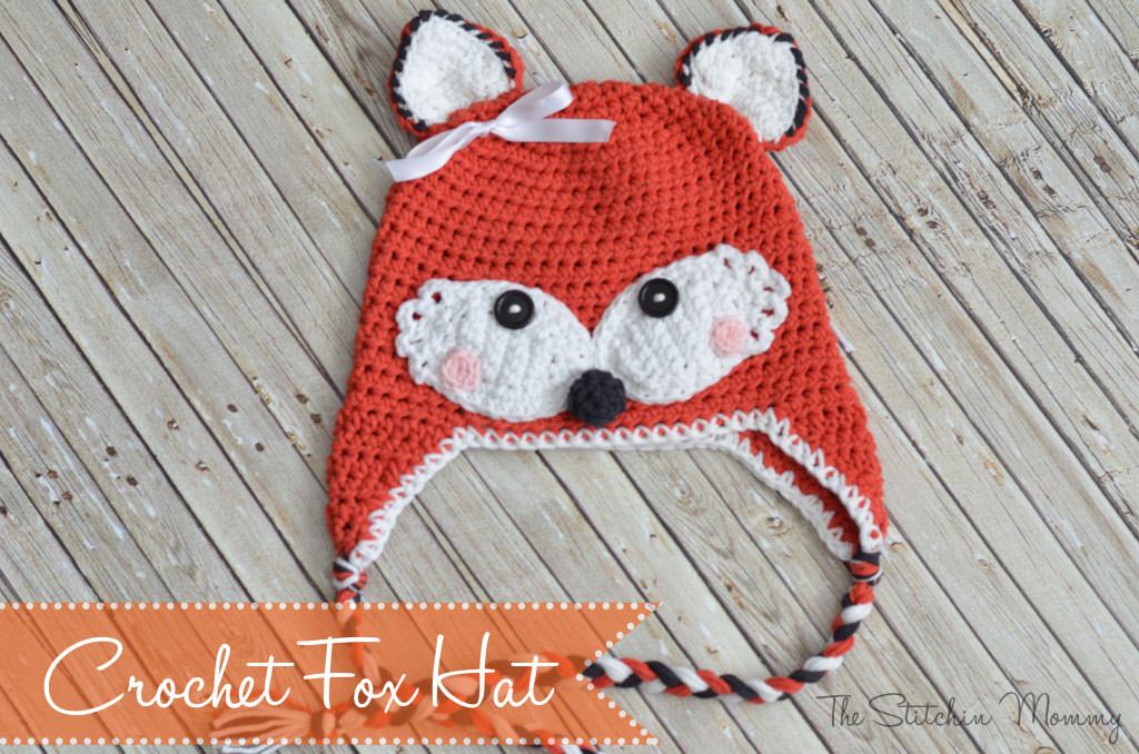 Crochet Fox Hat by The Stitchin' Mommy