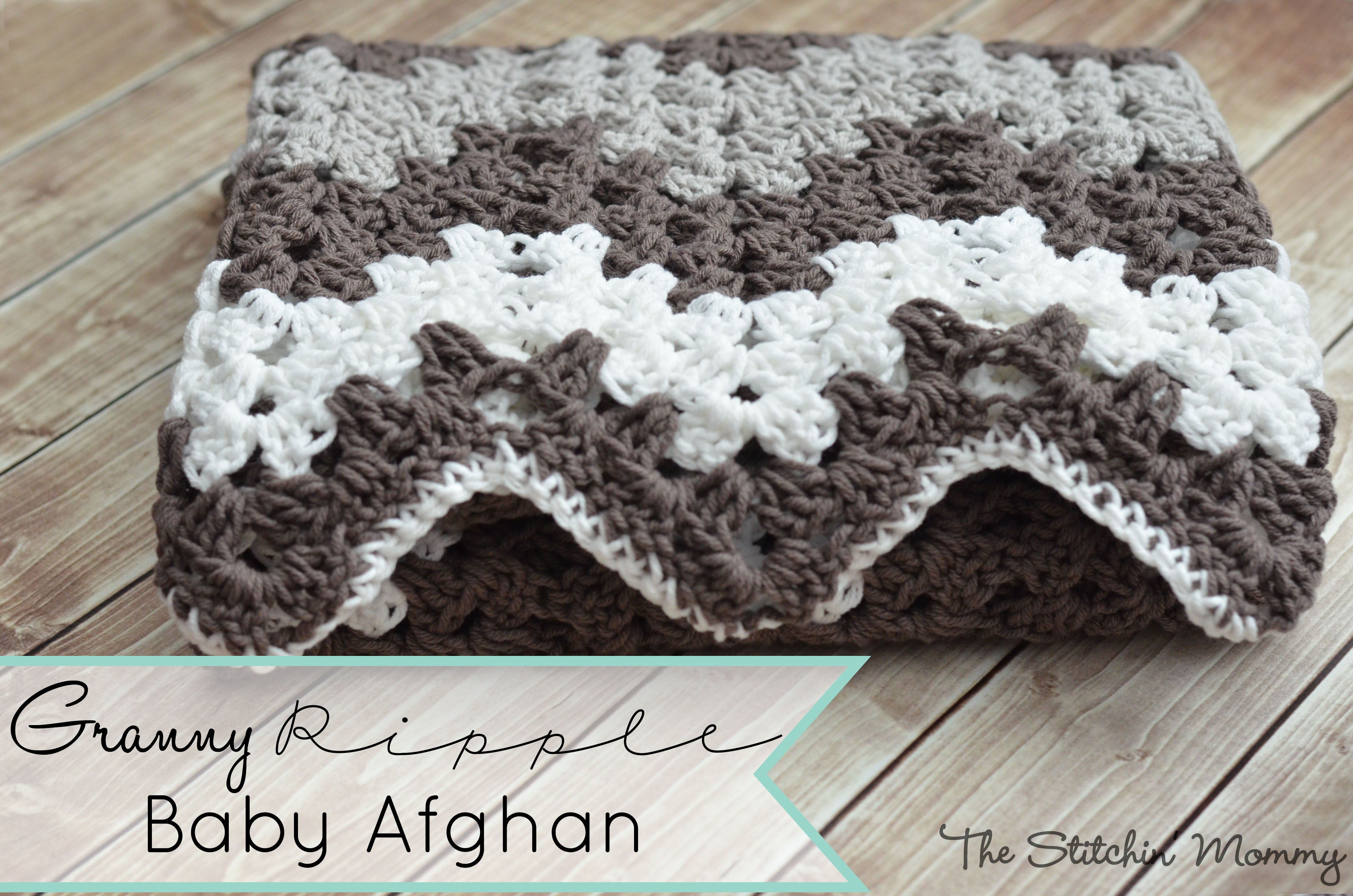 Granny Ripple Blanket by The Stitchin' Mommy
