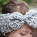 1-2-3 Bow Headband ~ grannysquaredontcare