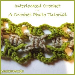 How to Crochet Interlocked Crochet by Rhelena of CrochetN'Crafts