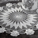 Rose Circle Doily ~ Free Vintage Crochet