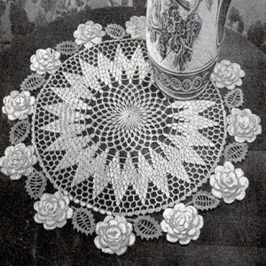 Rose Circle Doily Free Vintage Crochet Crochet Pattern