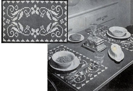 Breakfast Table Color Placemat by Free Vintage Crochet