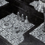 Pineapple Squares Vanity Set ~ Free Vintage Crochet