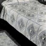 Peony Garden Bedspread by Free Vintage Crochet