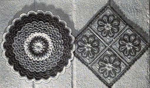 Hot Plate Mats by Free Vintage Crochet