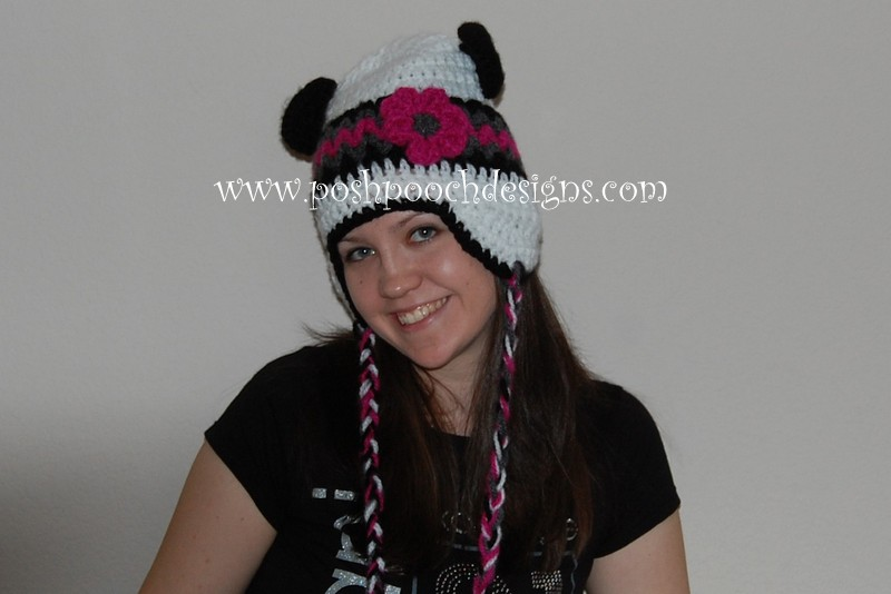 Christina's Panda Hat by Sara Sach of Posh Pooch Designs