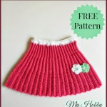 Pleated Mini Crochet Skirt ~ My Hobby is Crochet