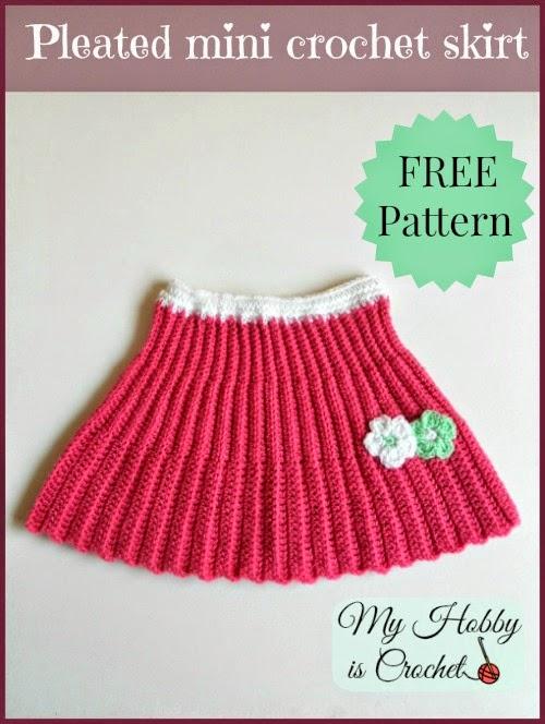 Pleated Mini Crochet Skirt by My Hobby is Crochet