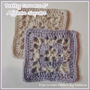 "Pretty Corners 5"" Square by Rhelena of CrochetN'Crafts"