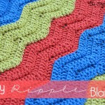 Easy Crochet Ripple Blanket ~ The Stitchin' Mommy