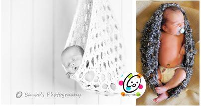 Crochet Sling & Nest Photo Prop ~ Snappy Tots