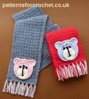 Child's Motif Scarf by Patterns For Crochet