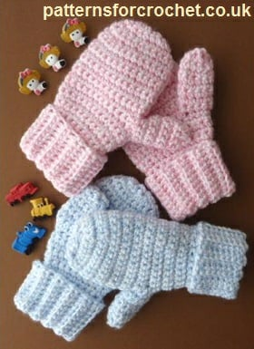 Children's Mittens by Patterns For Crochet