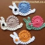 Snail Motif ~ Patterns For CrochetSnail Motif ~ Patterns For Crochet