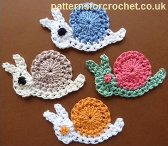 Snail Motif by Patterns For Crochet