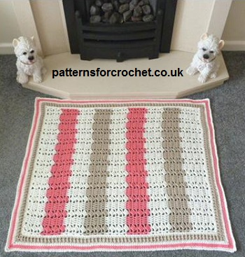 Fireside Rug by Patterns For Crochet