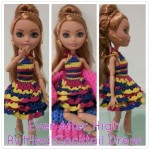 Ever After High Ruffled Cocktail Dress ~ Dezalyx