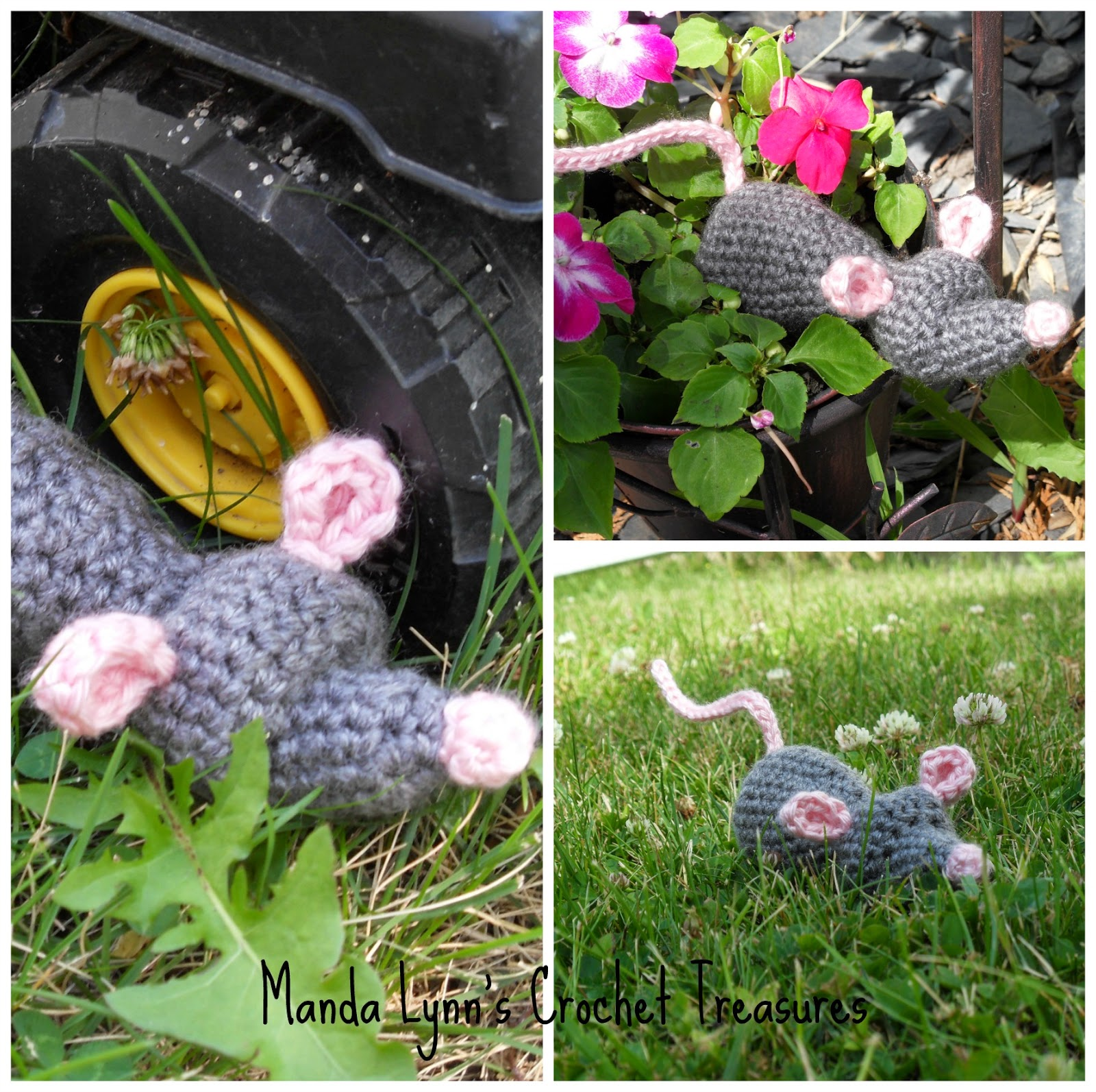 Mouse Plush or Refillable Cat Nip Toy ~ Manda Proell - MandaLynn's Crochet Treasures