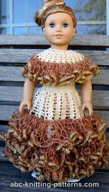 American Girl Doll Southern Belle Dress II by ABC Knitting Patterns