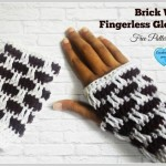 Brick Wall Fingerless Gloves ~ Erangi Udeshika - Crochet For You