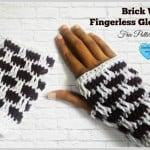 Brick Wall Fingerless Gloves by Erangi Udeshika of Crochet For You