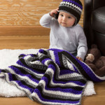 Baby Dude Blanket & Hat ~ Salena Baca - Red Heart