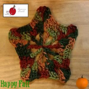 Autumn 5 Point Star Motif ~ American Crochet