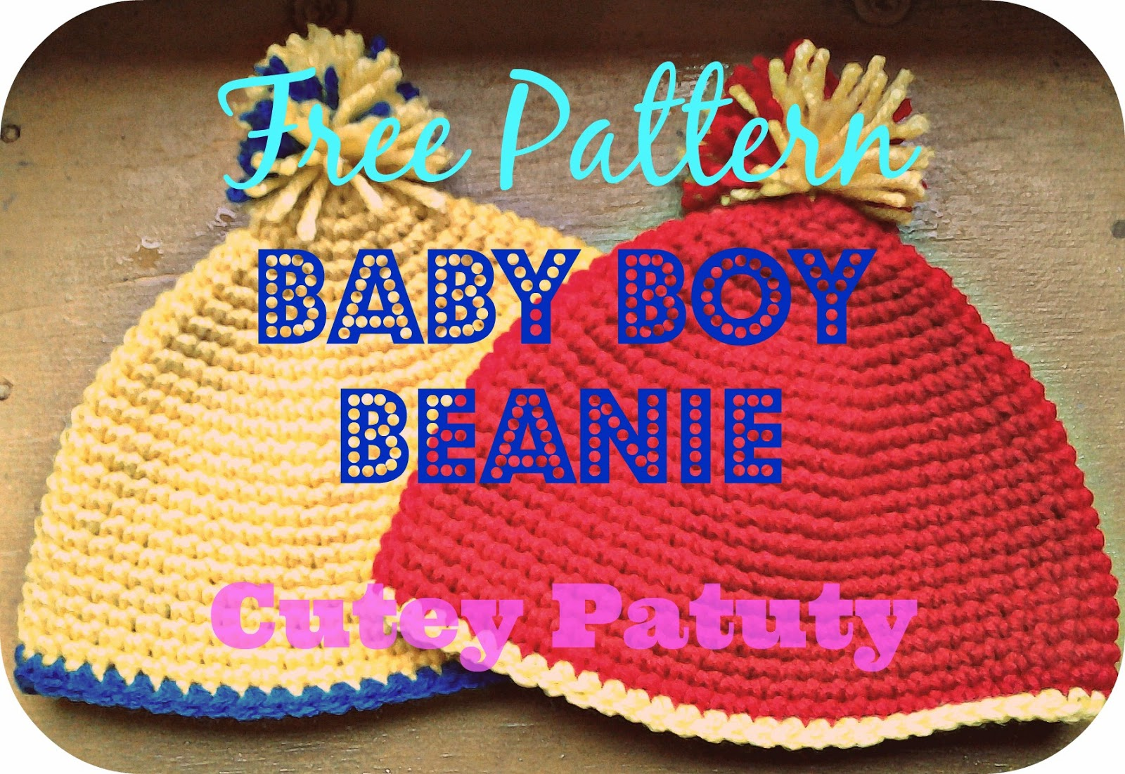 Baby Boy Beanie by Cutey Patuty