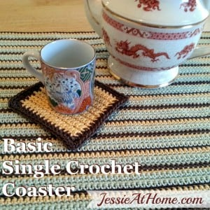 Basic Single Crochet Coaster ~ Jessie At Home