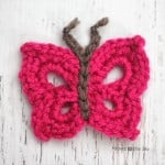 B is for Butterfly: Crochet Butterfly Applique ~ Repeat Crafter Me