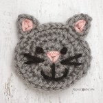 C is for Cat: Crochet Cat Applique ~ Repeat Crafter Me