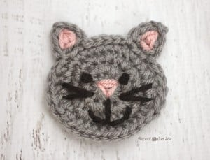 C is for Cat: Crochet Cat Applique by Repeat Crafter Me