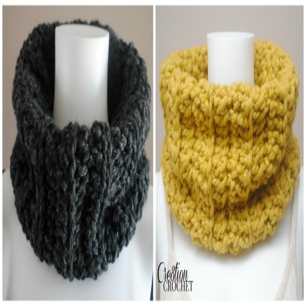 Crochet Baby Cowl Pattern Free : Chunky Ribbed Cowl ~ FREE Crochet Pattern