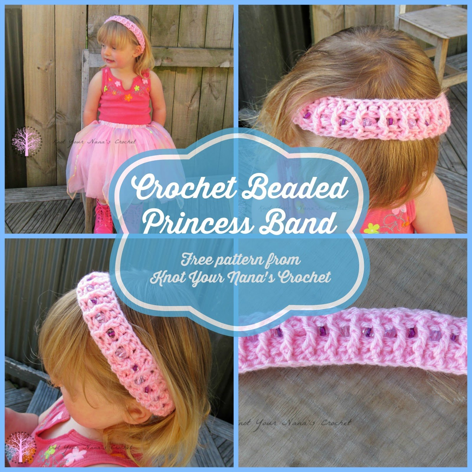 Crochet Beaded Princess Band by Knot Your Nana's Crochet